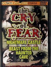 NIGHTMARE CASTLE (1965) & BEAST FROM THE HAUNTED CAVE (1959)~G/C DVD~CRY OF FEAR
