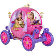 24V Disney Princess Carriage Ride-On Girls Rideon Pumpkin Pink Cinderella