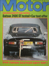 Motor magazine 28/4/1979 featuring TVR Turbo, Datsun 240K Skyline road test