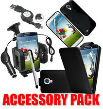 7 X Accessory Bundle KIT PER SAMSUNG GALAXY S4 i9500 Cover Car Holder Caricabatterie