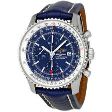 Breitling Navitimer World Blue Dial Chronograph Mens Watch A2432212-C651BLCD