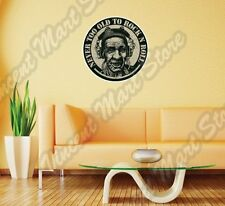 """Never Too Old To Rock n Roll Music Song Wall Sticker Interior Decor 22""""X22"""""""