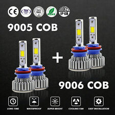 9006 9005 LED Total 160W 16000LM Combo Cree Headlight High 6000K White Bulb Kit