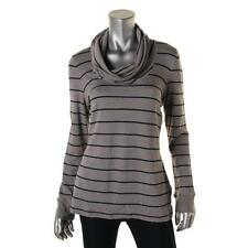 Tommy Hilfiger 6370 Womens Gray Striped Cowl-Neck Pullover Top XL BHFO