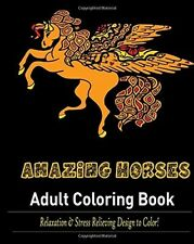 Adult Coloring Book Anti Stress Relief Designs Colouring Books Amazing Horses