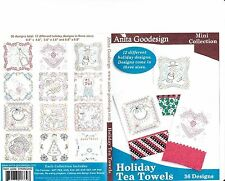 Holiday Tea Towels Anita Goodesign Embroidery Designs