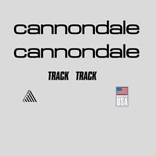 Cannondale Track Bicycle Frame Stickers - Decals - Transfers: Black. n.12