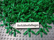 50 Lego Bamboo Leaves 30176  3-Leaf Flower Part Greenery Foliage Forrest Plants