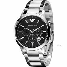 IMPORTED EMPORIO ARMANI AR2434 BLACK CHRONOGRAPH MENS WATCH GIFT 2YR WARANTY