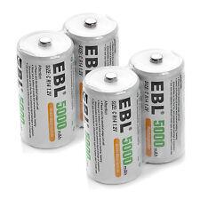 4pcs C R14 Size 1.2V 5500mAh Rechargeable Batteries EBL C Size NiMH Battery US