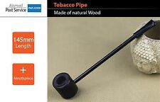 Natural Wood Wooden bowl Smoking Tobacco Pipe Pipes mouthpiece small long Black