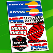 10 Autocollants Planche Auto Moto Vinyle Motard Stickers HRC Repsol Sponsor Race