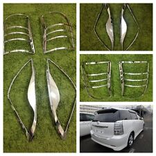 Toyota Wish Head and Tail Light Chromed Cover