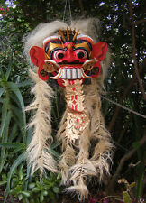 Bali Barong Tribal Wearable Dance Mask Wood Carving Hand Made Tattoo shop art