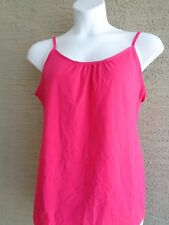 JUST MY SIZE STRETCH COTTON BLEND ADJUSTABLE STRAPS   CAMI TOP 4X Fuchsia