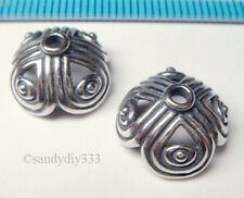 1x BALI STERLING SILVER FLOWER BEAD CAP 12.5mm J026
