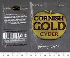 UK Beer Label - Healey's Cyder Brewery - Cornish Gold Cyder