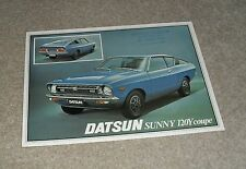 Datsun 120Y Coupe Brochure / Flyer 1977