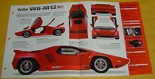 1992 Vector W8 M 12 US answer to Lamborghini V8 5973cc 625 hp info/specs/photo