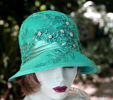 20s Vintage Style Cloche Dress Hat Formal Fancy Elegant Great Gatsby