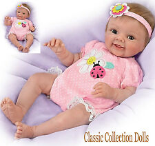 "Ashton Drake ""SMILE AWHILE,SKYLER"" -LIFELIKE 18"" BABY GIRL DOLL-NEW-IN STOCK NOW"