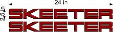 """SKEETER Side Logos / 24"""" PAIR Red / vehicle / boats / trailer decals / stickers"""