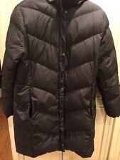 Land's End Women's Black Long Down Winter Coat Large 14-16