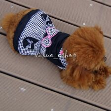 charming Little pet plaid dress dogs clothes fashion chihuahua clothing XXS