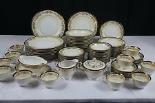 "86 PCS NORITAKE ""M"" VALENCIA 5086 CHINA SET - SERVICE FOR 12 - EUC"