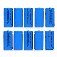 10PCS 16340 CR123A 3.6V 1200mAh Li-ion Rechargeable Battery For Flashlight Torch