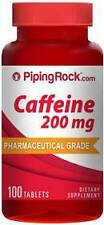 Caffeine Pills 200 mg Extra Strenght 100 Pills 1 Bottle High Energy Pills Diet