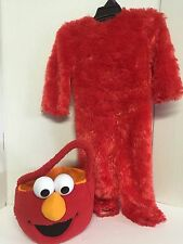 Elmo Costume Toddler 2T Outfit With Trick A Treat Basket Or Think Angry Bird