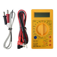 DT-838 LCD Digital Multimeter AC/DC 750V/1000V Amp Volt Ohm Tester Meter Yellow
