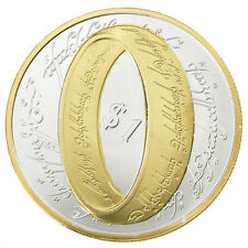 New Zealand Uncirculated Lord Of The Rings Coin Coins Silver+Gold Colors