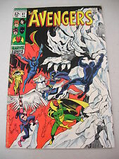 """THE AVENGERS"" #61 2/69 FINE+! THE GANG BATTLE `YMIR` THE ICE MONSTER!"