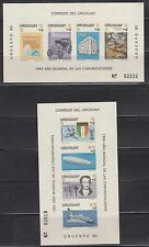 Uruguay 1983 Communications Sc 1143a, 1147a IMPERF MS mint never hinged