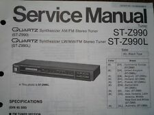 TECHNICS ST-Z990 ST-Z990L Stereo Tuner Service manual wiring parts diagram