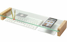 Glass Keyboard Top Organiser Desk Tidy