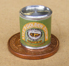 1:12 SCALA VUOTO GOLDEN Sciroppo di latta Casa delle Bambole Miniatura Accessorio Cucina Cibo