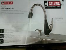 DELTA FUSE 19959-SBSD-DST CRACKED PEPPER BRILLIANCE STAINLESS PULL-DOWN FAUCET