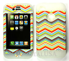 KoolKase Hybrid Armor Silicone Cover Case for Apple iPhone 4 4S - Chevron 14