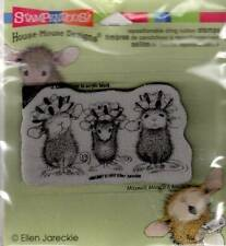 New HOUSE MOUSE RUBBER STAMP cling Christmas BOW TIED free usa ship