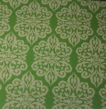 """RICHLOOM DAMASK APPLE GREEN MEDALLION OUTDOOR INDOOR FABRIC BY THE YARD 54""""W"""