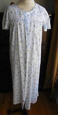 SUMMER WEIGHT BLUE EARTH ANGELS COTTONY WOMEN'S SNAP ROBE/NIGHTGOWN IN SIZE S