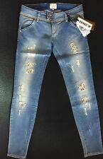Met Jeans Donna Micro Borchie/strass Tg.29(28)