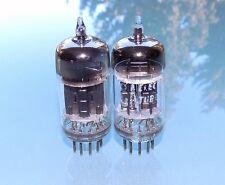 Pair RCA 5814 A / 12AU7 A / E82CC, 3mica black plate, military NOS tubes