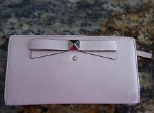 Kate Spade Beacon Court STACY Patent Leather Wallet Clutch PALE PINK BALLET SLIP