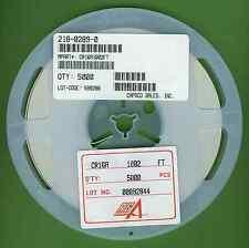 """5000× RGA CR16A1002F RESISTOR 10K OHM 0.0625W 1/16W 1% 0603 SMD SMT 7"""" REEL †"""