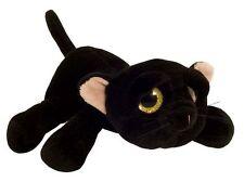 Neuware schwarze Katze mit großen Glitzeraugen ca. 24cm lang