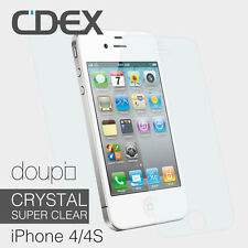 9x CRYSTAL Super Clear Schutzfolie für iPhone 4 4S Display Schutz Glatt Folie